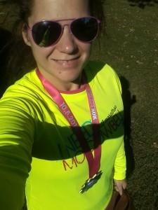 Sunny selfie in my race shirt.